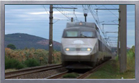 Royalty Free HD French trains and vineyards video clip